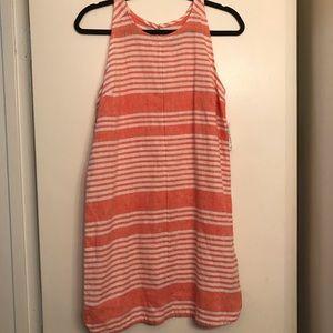 Old Navy Pink Striped Linen Dress sz XS Petite NWT